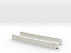 CURVED 490mm 13° SINGLE TRACK VIADUCT in White Natural Versatile Plastic
