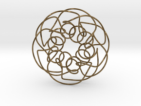 Twisted Knot in Polished Bronze