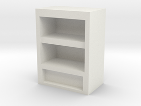 Bookshelf 2h in White Natural Versatile Plastic