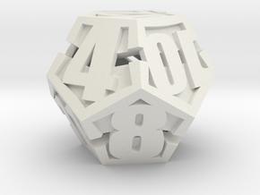Peeled d12 in White Natural Versatile Plastic