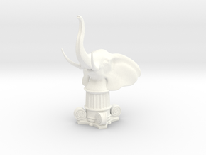 Elephant Rook (Square Base) in White Processed Versatile Plastic