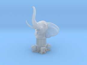Elephant Rook (Square Base) in Smooth Fine Detail Plastic