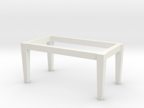 1:48 Table Base in White Natural Versatile Plastic