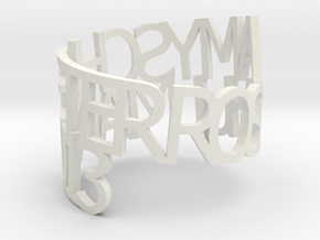 Amy Ring Poem in White Natural Versatile Plastic