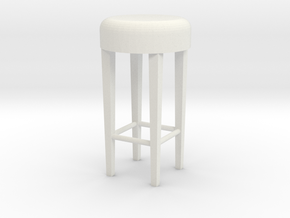1:24 Stool 2 in White Natural Versatile Plastic