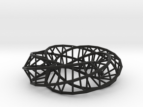 Moebius Pentagon | Napkin Ring in Black Strong & Flexible