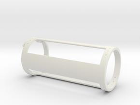 MSLED Mounting Board v4 Back Section v2 in White Natural Versatile Plastic