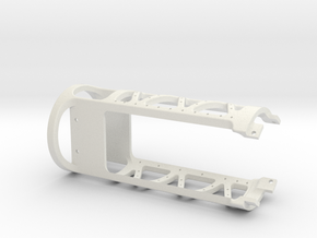 MSLED Mounting Board v4 Front Section v2 in White Natural Versatile Plastic