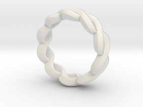 Weave in White Natural Versatile Plastic