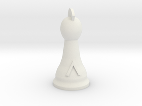 Spartan King for Spartan Chess&#153  in White Natural Versatile Plastic