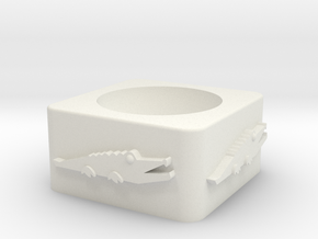 Croc_unshelled_2 in White Natural Versatile Plastic