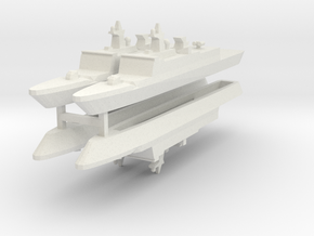 French La Fayette Frigate 1:2400 x4 in White Strong & Flexible