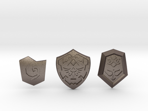 Time Shield Pack in Polished Bronzed Silver Steel