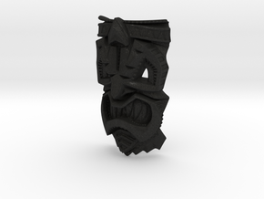 TikiheadE_30mm1 in Black Acrylic