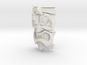 TikiheadE_60mm1 in White Natural Versatile Plastic