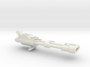 1:18 Dual Pulsar Cannon in White Natural Versatile Plastic