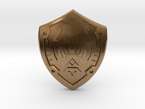 Hero's Shield I in Natural Brass