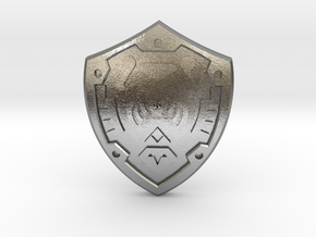 Hero's Shield I in Natural Silver