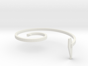 mold part, top,  vehicle spring, 1.5 mm, with text in White Natural Versatile Plastic