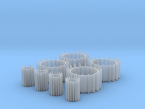 Engine Inserts in Smooth Fine Detail Plastic