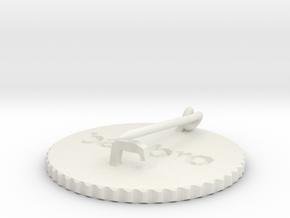 by kelecrea, engraved: babbro in White Strong & Flexible