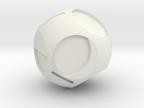Moon Phase D8 in White Natural Versatile Plastic