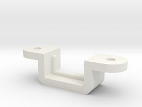 USB Bracket in White Natural Versatile Plastic