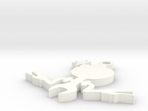 The Beemer Dan in metal in White Processed Versatile Plastic