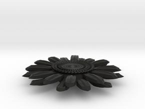 Sunflower Pendant - Bigger Loop in Black Strong & Flexible