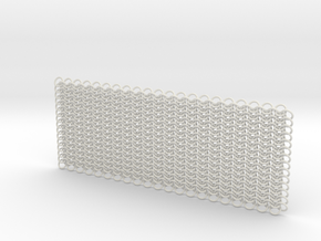 Euro 4 in 1 chain maille - 10x4cm* in White Natural Versatile Plastic