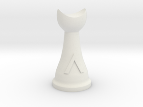 Warlord for Spartan Chess&#153  in White Natural Versatile Plastic
