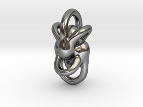 Peace of Love (3 sizes) in Polished Silver: Medium