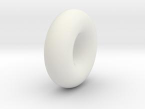 Torus in White Natural Versatile Plastic