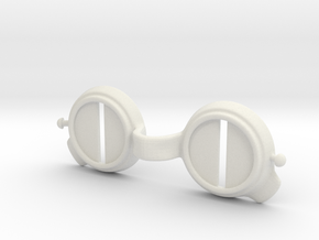 Goggles: Desert/Snow Glare  in White Natural Versatile Plastic