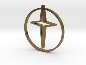 Circle of life cross 45mm in Natural Bronze