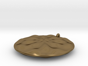 Sine Wave Pendant in Polished Bronze