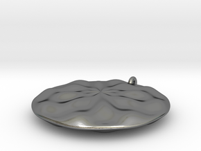Sine Wave Pendant in Polished Silver
