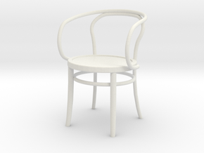 1:24 Thonet Arm Chair (Not Full Size) in White Strong & Flexible