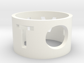 Family Napkin Rings in White Strong & Flexible Polished