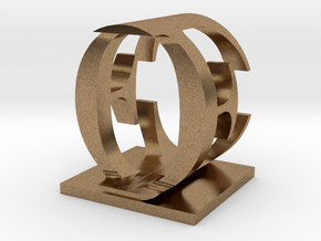 Two way letter / initial E&O in Natural Brass