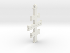 Gea's Cross in White Natural Versatile Plastic