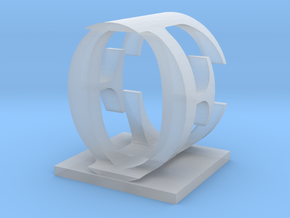 Two way letter / initial E&O in Smooth Fine Detail Plastic