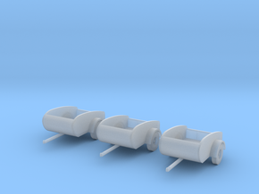 Tear drop trailers HO Scale 1/87 x3  in Smooth Fine Detail Plastic