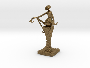 Abstract Figurine in Natural Bronze