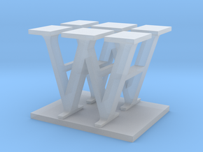 Two way letter / initial H&W in Smooth Fine Detail Plastic