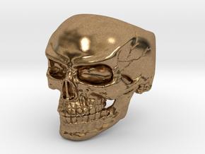 WR Ring FullSkull - Size 10 in Natural Brass