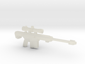 Barret 50.c Sniper Rifle in Transparent Acrylic