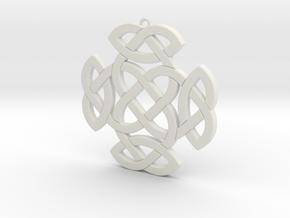 Celtic Knot 2 in White Natural Versatile Plastic