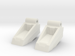 Classics seeker footplates in White Natural Versatile Plastic