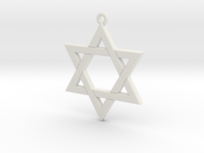 Star of David in White Strong & Flexible